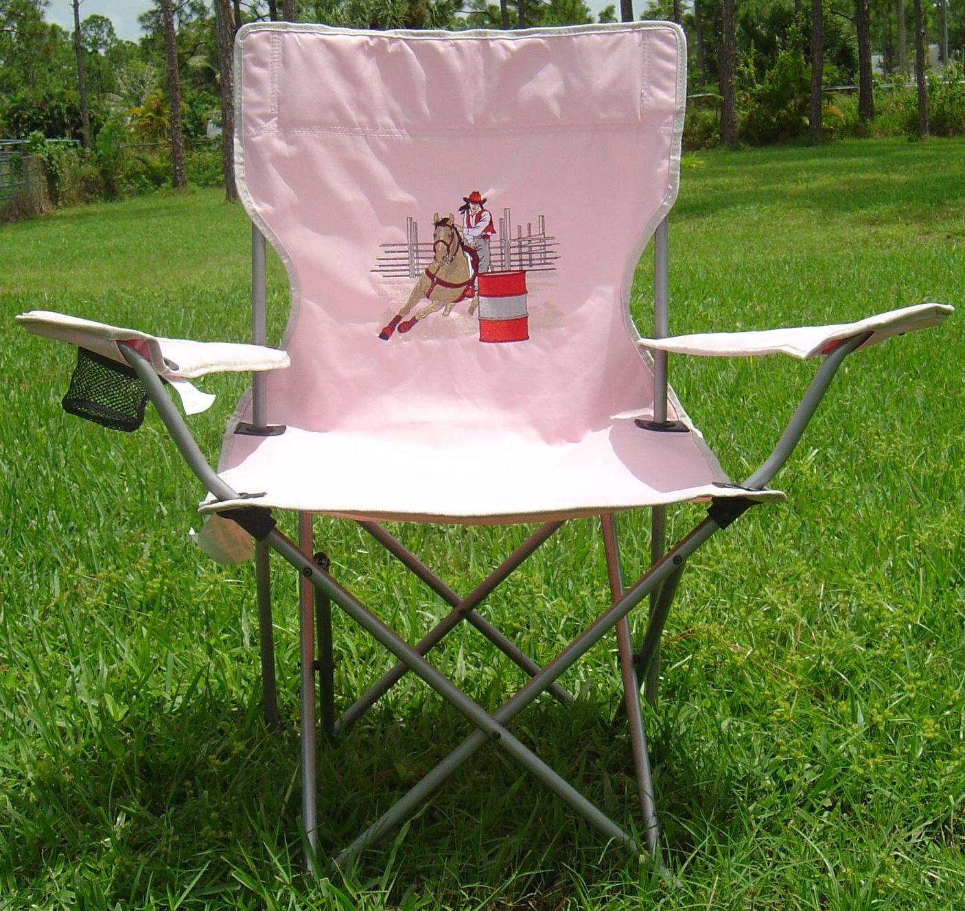 embroidered folding chair your choice of designs